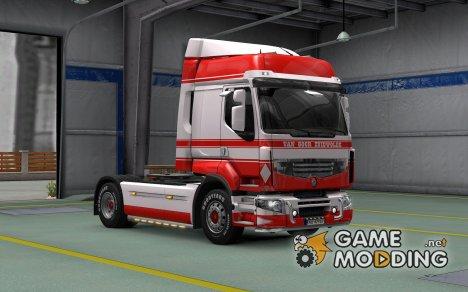 Скин Van Goor Zuidwolde для Renault Premium для Euro Truck Simulator 2