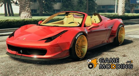 Ferrari 458 Italia Spider (LibertyWalk) for GTA 5