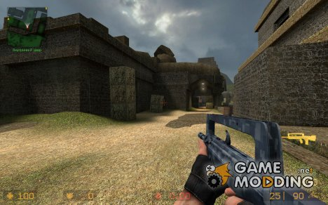 Tactical Blue digital FAMAS для Counter-Strike Source