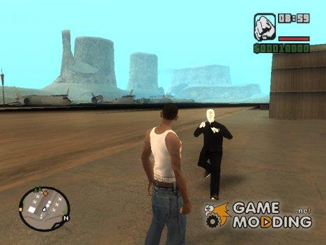 Slender man version 2 для GTA San Andreas