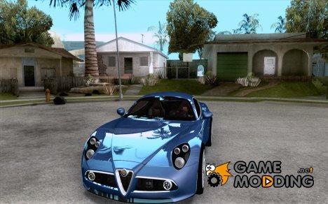 Alfa Romeo 8C Competizione v.2.0 для GTA San Andreas