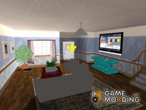 Новый интерьер дома CJ'а v 1.0 для GTA San Andreas