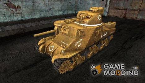 Шкурка для M3 Grant для World of Tanks