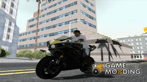 Yamaha YZF R1 2012 Black and Yellow для GTA San Andreas