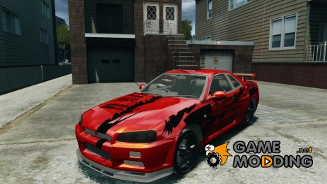 Nissan Skyline R-34 Atomic для GTA 4