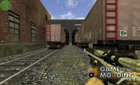 Awp Silver Black+blue Laser By S.C for Counter-Strike 1.6