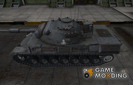 Зоны пробития контурные для Leopard 1 for World of Tanks