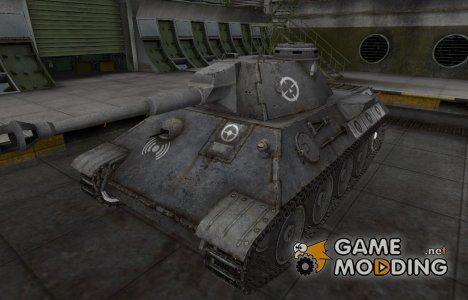 Зоны пробития контурные для VK 30.02 (D) for World of Tanks