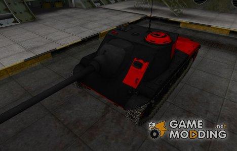 Черно-красные зоны пробития T25 AT для World of Tanks