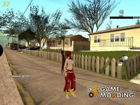Erza Samurai Skin for GTA San Andreas