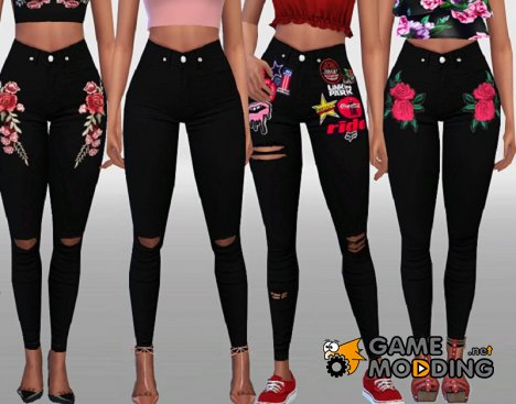 Black Denim for Sims 4