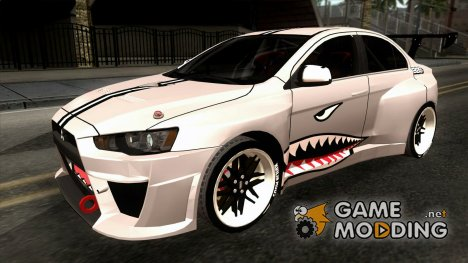 Mitsubishi Lancer Evolution X Shark для GTA San Andreas