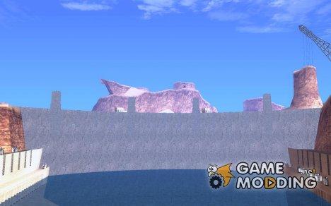 Новые текстуры для дамбы for GTA San Andreas