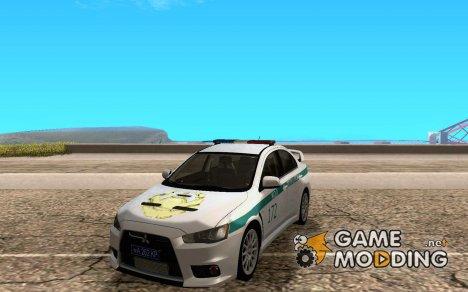 Mitsubishi Lancer Evolution X Казахстанская Полиция v2.0 for GTA San Andreas