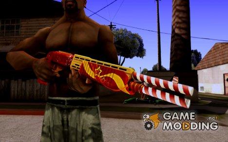 Новогодний дробовик SPAS-12 из WarFace для GTA San Andreas