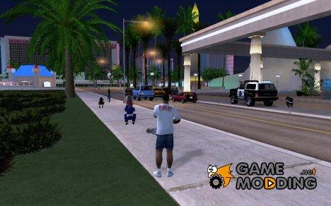 Пешеходы пугаются когда видят оружие для GTA San Andreas