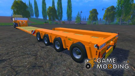 FSMT Heavy transport low loader trailer для Farming Simulator 2015