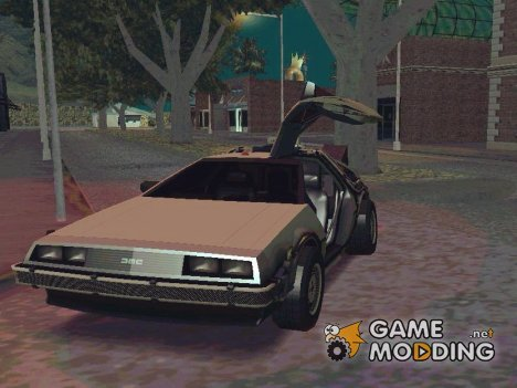 Delorean Time Machine (Telltale) для GTA San Andreas