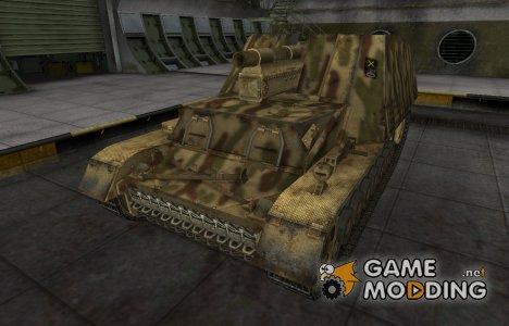 Исторический камуфляж Hummel для World of Tanks