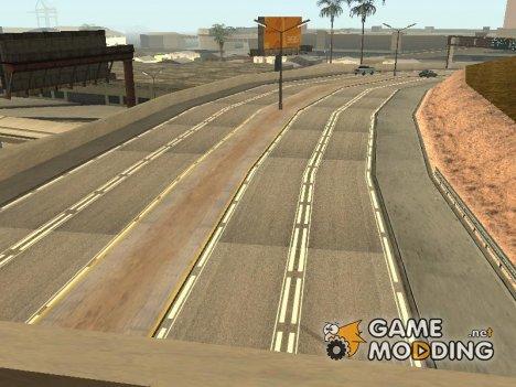 Новые текстуры дорог для GTA San Andreas
