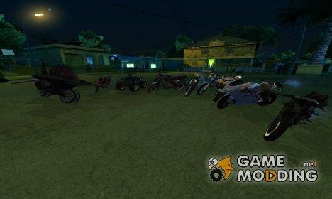 Пак новых мотоциклов для GTA San Andreas