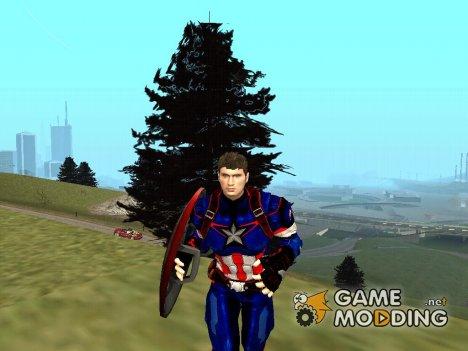 Капитан Америка без маски для GTA San Andreas