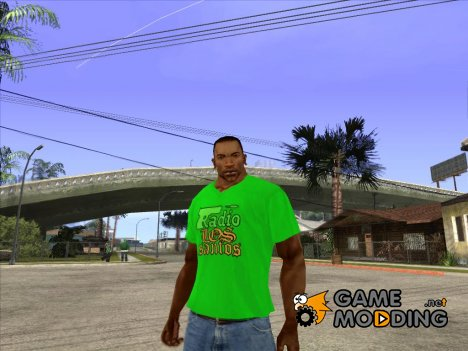 CJ в футболке (Radio Los Santos ) for GTA San Andreas