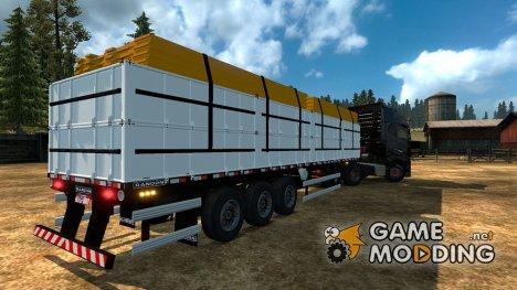 Bulk Woods Trailer для Euro Truck Simulator 2