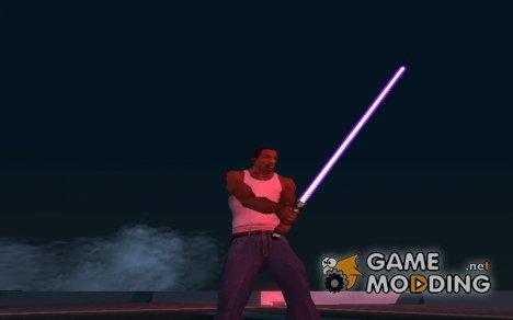 Фиолетовый световой меч v2 для GTA San Andreas