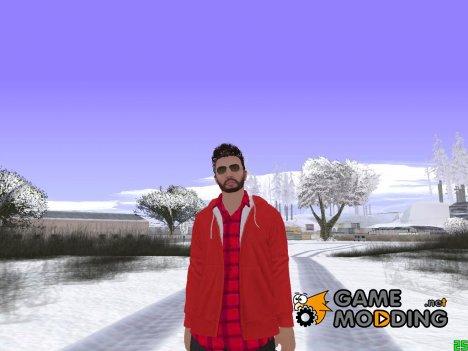 Skin GTA Online в красной куртке для GTA San Andreas