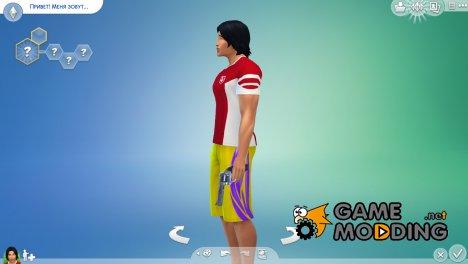 Оружие пистолет для Sims 4