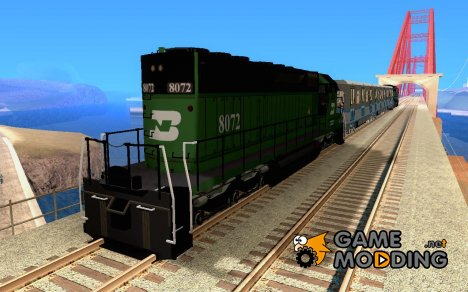 Локомотив SD 40 Burlington Northern 8072 for GTA San Andreas