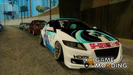 Honda CRZ Mugen - Miku Hatune Itasha for GTA San Andreas