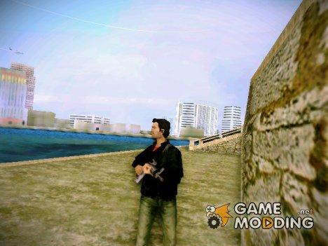 Томми в одежде Клода(GTA III) для GTA Vice City