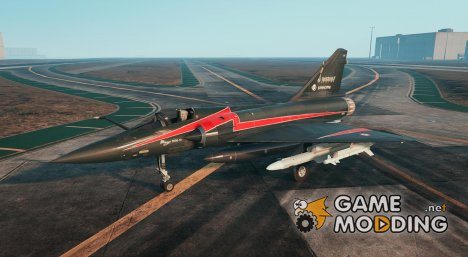 Dassault Mirage 2000-5 Black v2 for GTA 5