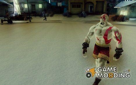 Скин Кратоса из God Of War for GTA San Andreas