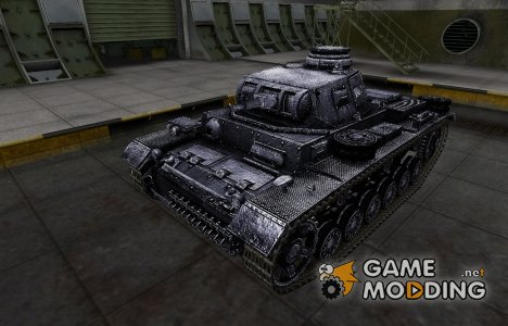 Темный скин для PzKpfw III for World of Tanks