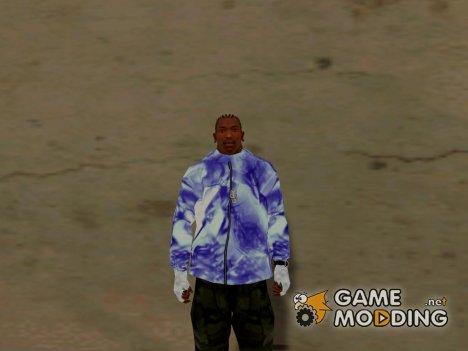 Фиолетовая толстовка for GTA San Andreas