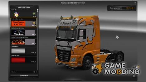 Скин для DAF XF Euro 6 Nielsen для Euro Truck Simulator 2