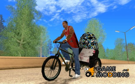 Manual Rickshaw v2 Skin3 for GTA San Andreas