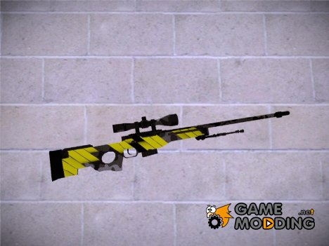 CSGO - AWP Neural Yellow for GTA San Andreas