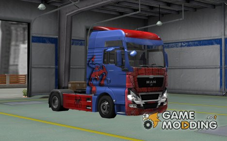 Скин Spider-Man для MAN TGX for Euro Truck Simulator 2