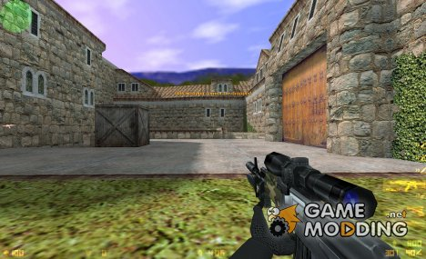Custom Camo AK-47 On Latmiko Animation для Counter-Strike 1.6