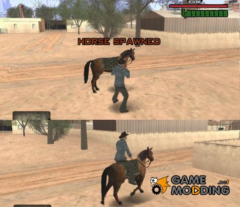 Horse Riding Anywhere для GTA San Andreas