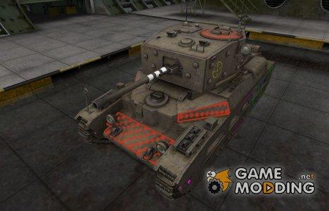 Контурные зоны пробития Matilda Black Prince для World of Tanks