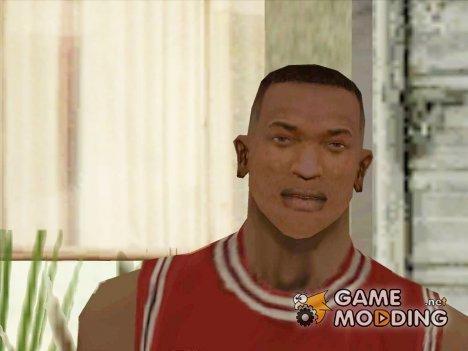 Новые текстуры лица и причёски Си Джея для GTA San Andreas