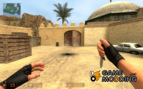 Dynamite Boker Applegate Blade on Mr.John Anim для Counter-Strike Source