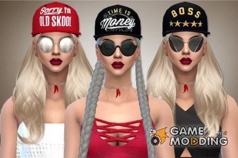 Набор кепок Sporty Caps for Sims 4