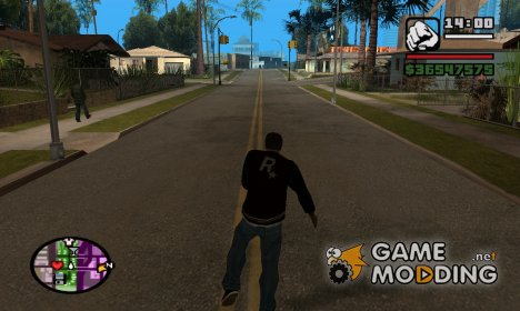 Кататься на роликах для GTA San Andreas