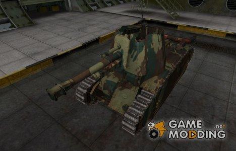Французкий новый скин для 105 leFH18B2 для World of Tanks